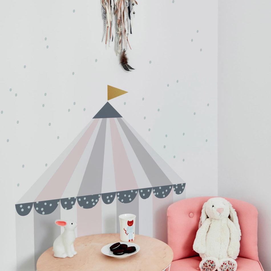 Naklejka na ścianę do pokoju dziecka-cyrk