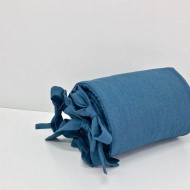 Ochraniacz do łóżeczka dziecięcego dla niemowlaka- granatowy