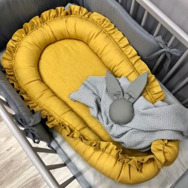 Miodowy kokon niemowlęcy/ gniazdko- doskonały do snu.