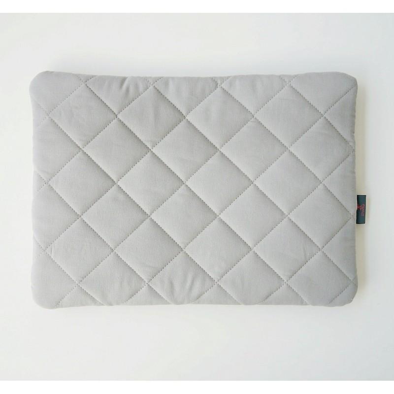 Płąska pikowana poduszka lub łóżeczka dziecięcego- do wyboru szara, biała, róż, grafit, mięta
