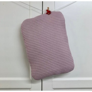 Płaska poduszka dla dziecka/ niemowlaka złamany róż