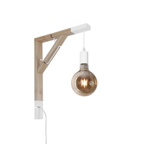 youngDECO lampa LOFT + SIMPLE biała kula
