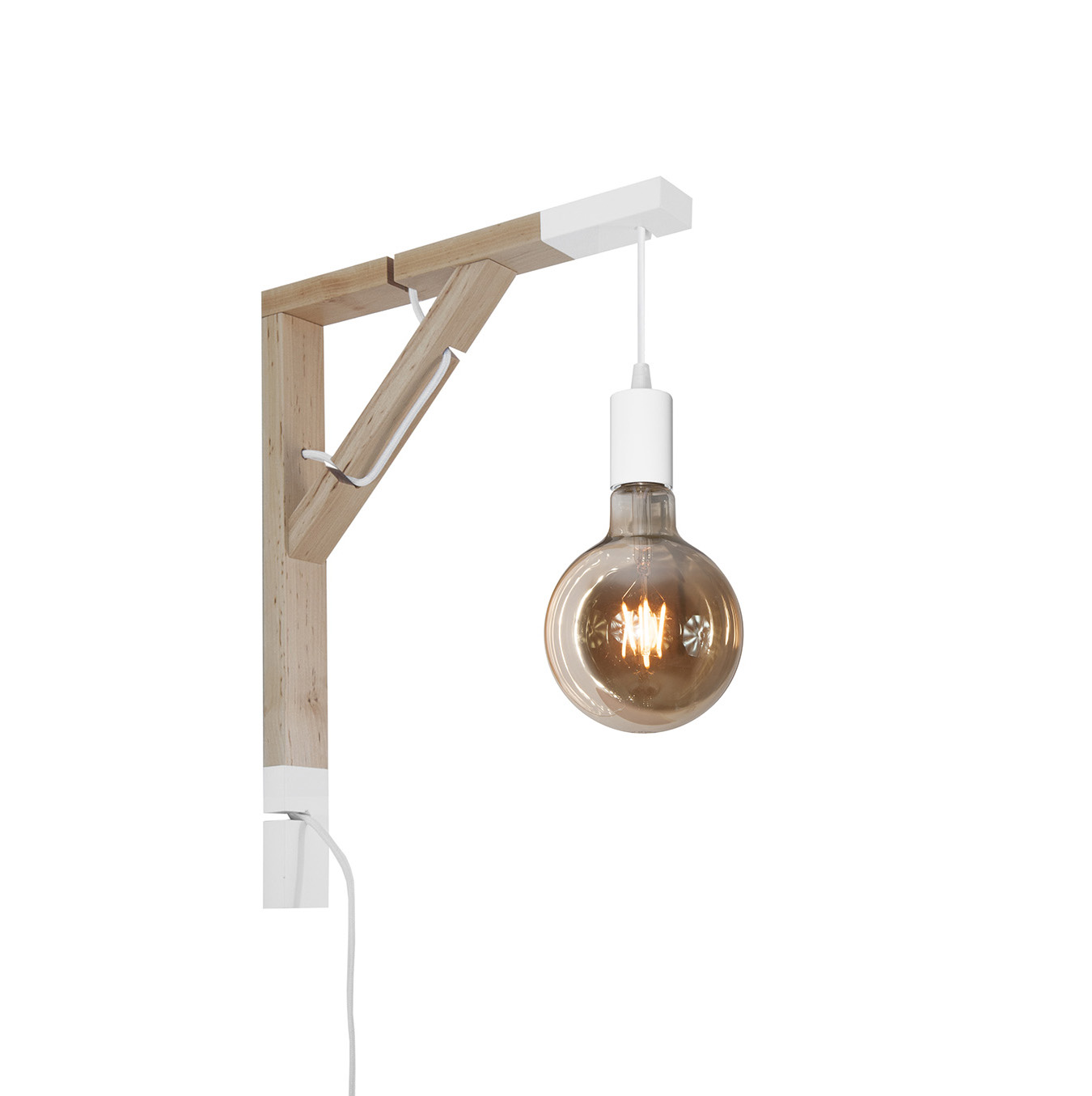 youngDECO lampa LOFT + SIMPLE biała kula