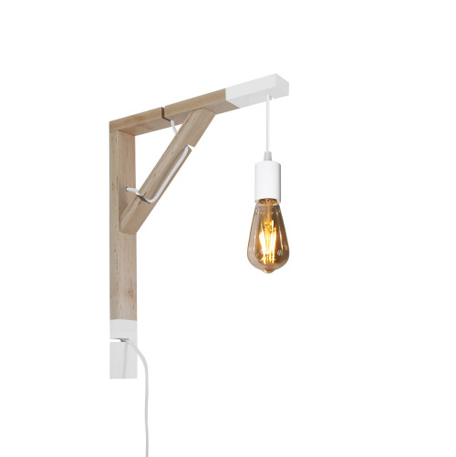 youngDECO lampa LOFT + SIMPLE biała sopel