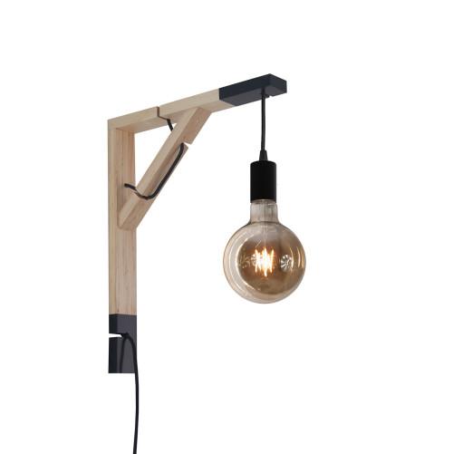 youngDECO lampa LOFT + SIMPLE czarna kula