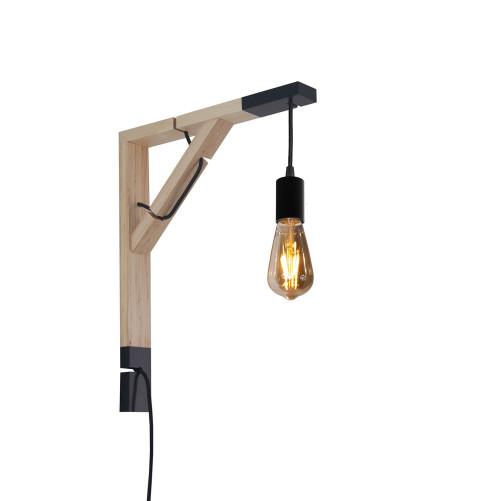 youngDECO lampa LOFT + SIMPLE czarna sopel