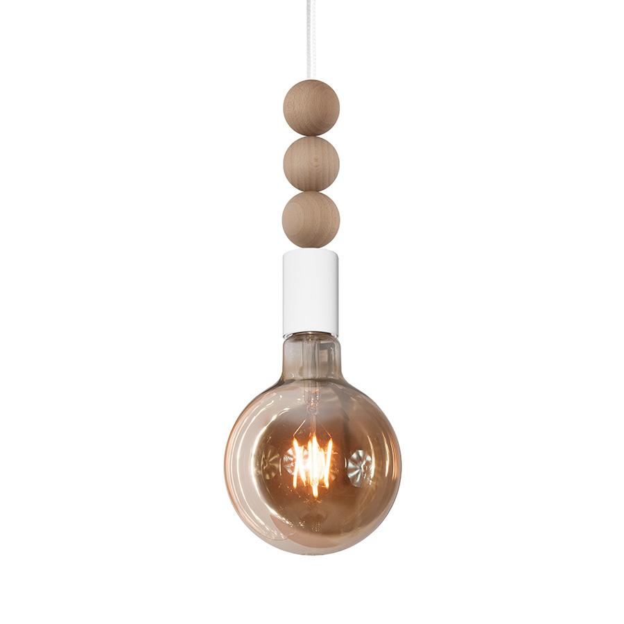 youngDECO lampa LOFT kula z kulkami biała