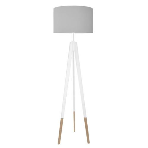youngDECO lampa podłogowa trójnóg biały w skarpetkach czysta szarość