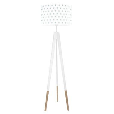 youngDECO lampa podłogowa trójnóg biały w skarpetkach gwiazdki szare