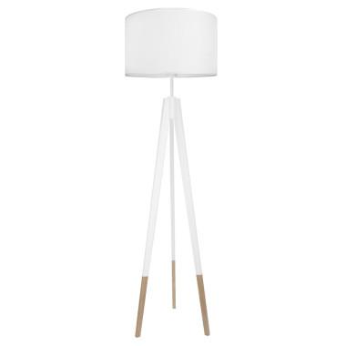 youngDECO lampa podłogowa trójnóg biały w skarpetkach porcelanowa biel