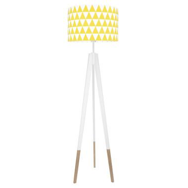 youngDECO lampa podłogowa trójnóg biały w skarpetkach trójkąty żółte