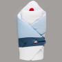 Niebiesko-biały rożek wykonany z wysokiej jakości tkaniny bawełnianej wypełniony usztywnionym wypełnieniem poliestrowym. Styl marynarski.