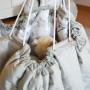Dwustronna,antyalergiczna mata/worek do zabawy dla dziecka w kwiaty magnolii