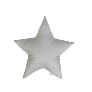 Pikowana, szara poduszka ozdobna w kształcie gwiazdy