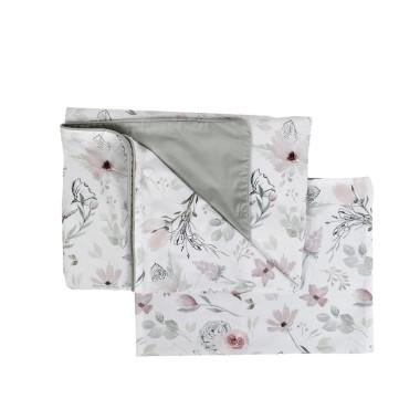 Dwustronna, miekka, wysokogatunkowa pościel w kwiaty Magnolii