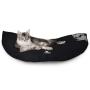 EMI -puchowe, miękkie i wygodne posłanie dla kota-rozkładane-czarne