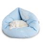 EMI -puchowe, miękkie i wygodne posłanie dla kota-rozkładane-niebieskie