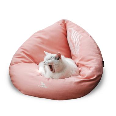 EMI -puchowe, miękkie i wygodne posłanie dla kota-rozkładane-różowe