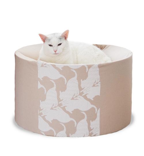 Oti-nowoczesne łóżko dla kota-designerskie i eleganckie-beż