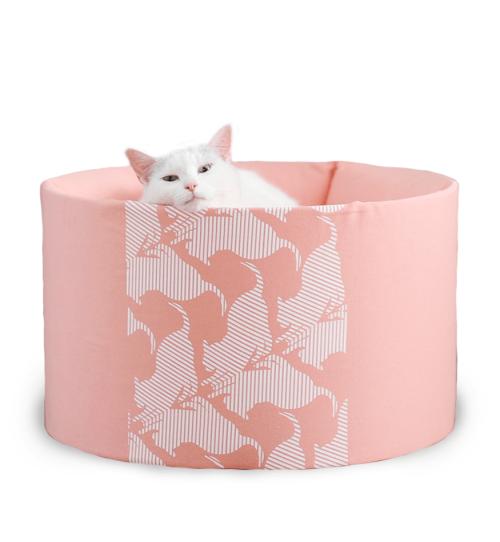 Oti-nowoczesne łóżko dla kota-designerskie i eleganckie-RÓŻOWE
