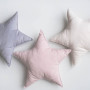 Miękka poduszka gwiazdka dekoracyjna do pokoju dziecka – róż, beż, szary