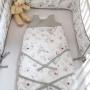 Miękki śpiworek dla niemowlęcia w kwiaty magnolii