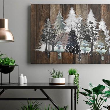 Drzwi do lasu - nowoczesny obraz na płótnie
