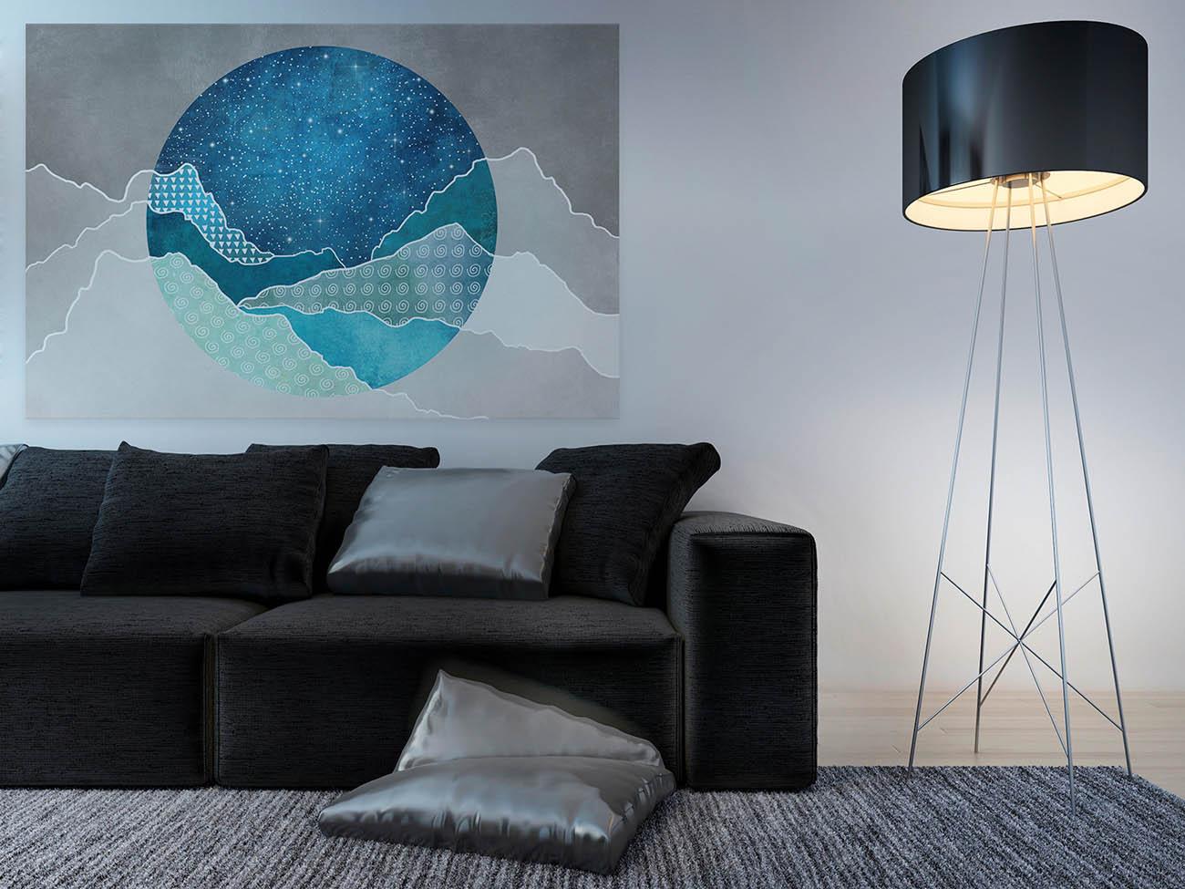 Cytadela ciał niebieskich - nowoczesny obraz na płótnie