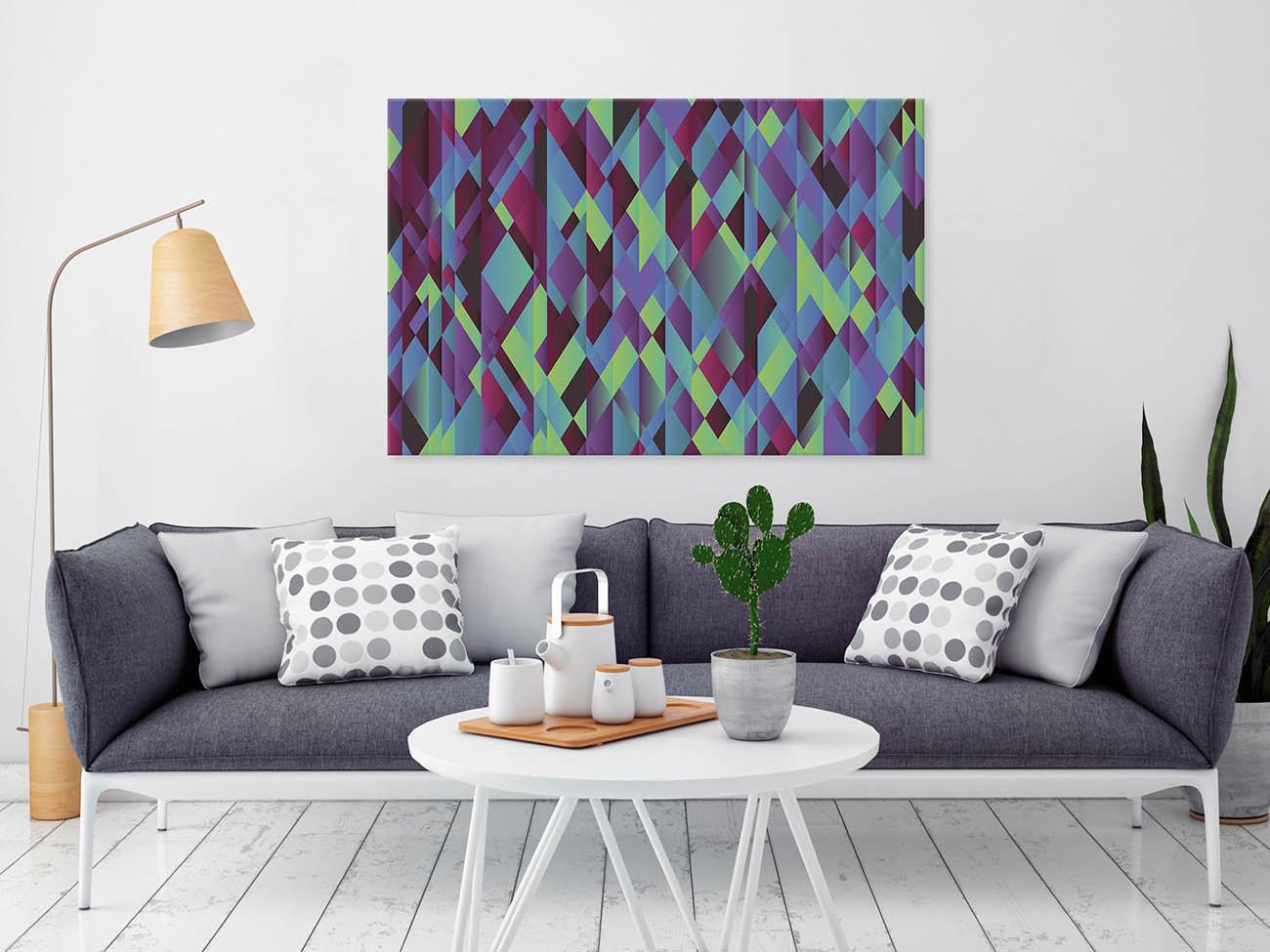 Kwestia interpretacji - nowoczesny obraz do salonu
