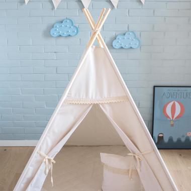 Namiot tipi dla dziecka w kolorze beżowym