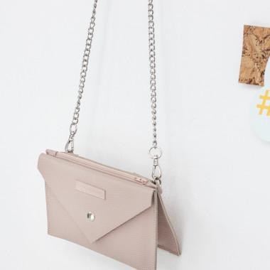 -Sprytna, wielofunkcyjna nerka/ torebka z naturalnej skóry-prezent dla kobiety róż