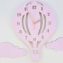 Zegar ścienny Balon różowy