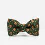 Zielona mucha na szyję dla chłopca/ dziecka ze świątecznym wzorem. Idealny pomysł na prezent pod choinkę dla mężczyzny. Na wigilię dla mężczyzny.