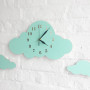 Zegar do pokoju dziecka-chmurka miętowa