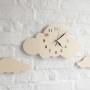 Zegar do pokoju dziecka-chmurka naturalne drewno
