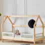 Łóżko domek dla dziecka-drewniane łóżko dziecięce