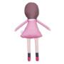 Miękka, materiałowa szmaciana maskotka przytulanka w różowym ubranku