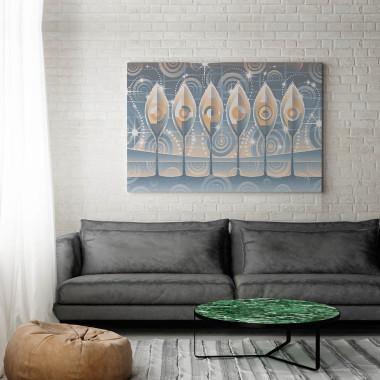 Perłowa sekwencja - nowoczesny obraz na płótnie