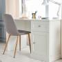 Białe biurko z szafką i szufladą