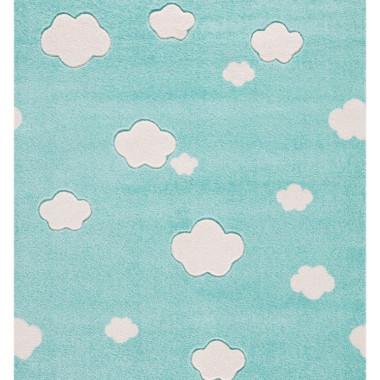 Przepiekny dywan dziecięcy MINT CLOUDS nada niepowtarzalnego charaktery każdemu pokoikowi dziecięcemu.