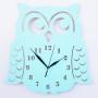 Zegar ścienny w stylu skandynawskim do pokoju dziecinnego. Sowa w kolorze miętowym.