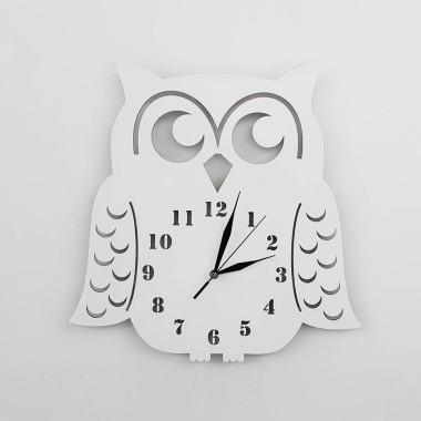 Zegar ścienny Sowa biała