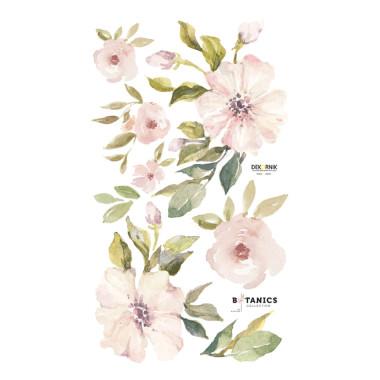Naklejka z różowymi kwiatami na ścianę do pokoju dziecka