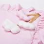 Piękna różowa mata edukacyjna dla dziewczynki do raczkowania