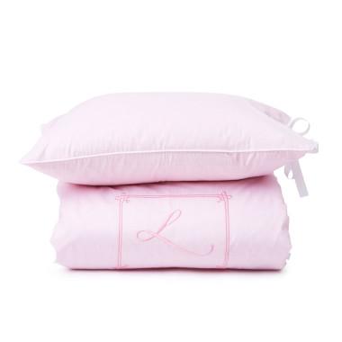 Pościel dla dziewczynki w kolorze różowym z haftem