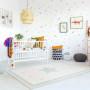 Przepiękny dywan dziecięcy w pastelowych kolorach nada niepowtarzalnego charakteru każdemu pokoikowi dziecięcemu.