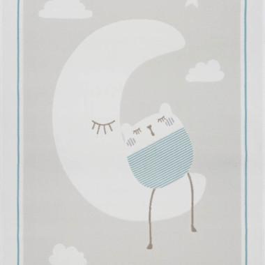 Przepiękny dywan dziecięcy do pokoju chłopca w pastelowych kolorach. Księżyc.