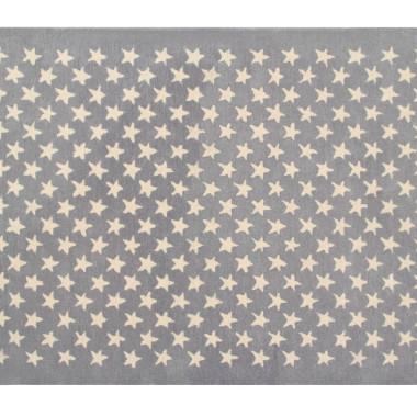 Wełniany szary dywan w beżowe gwiazdki-pasuje do pokoju dziecięcego