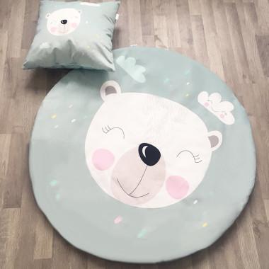 Komplet mata dziecięca i poduszka Królik&Miś