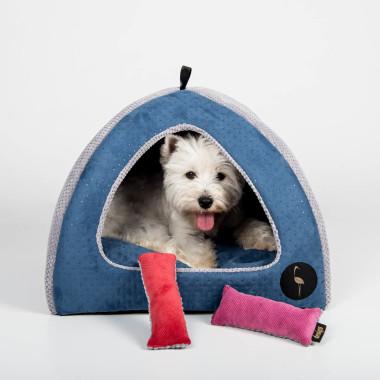 Niezwykła budka dla kota i psa dla których liczy się dyskrecja. Dwustronna, wyciągana poducha daje możliwość urozmaicenia jego wyglądu. Szara, czarna, zielona, czerwona, niebieska, różowa.